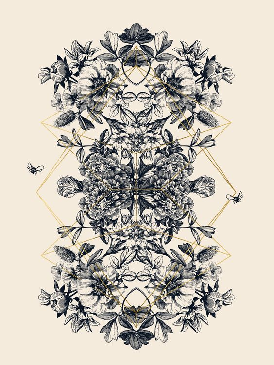 As i enjoyed this month's rorschach design, i thought i should give it a go and combine a few more things i like in one. I simply adore those vintage botanical florals. Have been looking for the perfe