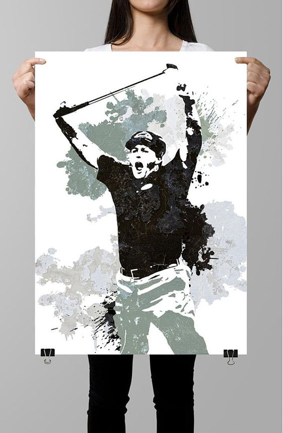 Fan art poster Phil Mickelson Professional Golfer Wall art