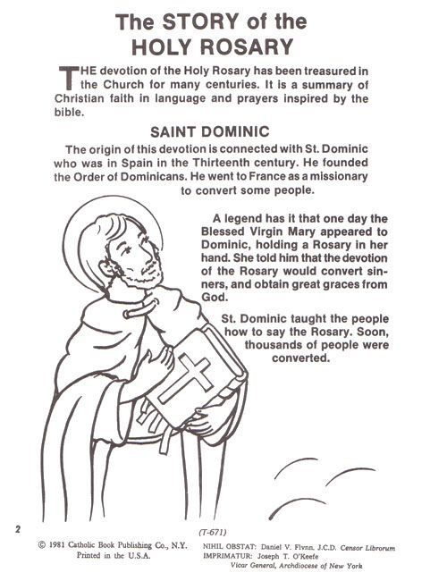 Image Result For Catholic Rosary Coloring Pages Printable