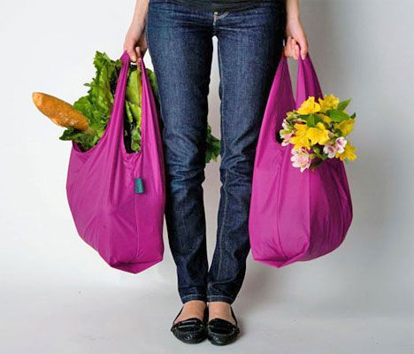 Groceries taste just as good, if not more consciously delicious, when you've toted them home in plastic bag alternatives like Baggus.