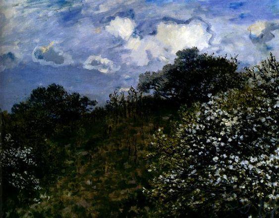Spring, 1875 by Claude Monet. Impressionism. landscape. Johannesburg Art Gallery, Johannesburg, South Africa