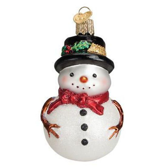 Holly Hat Snowman Ornament By Old World Christmas In 2020 Old World Christmas Ornaments Old World Christmas Christmas Ornaments