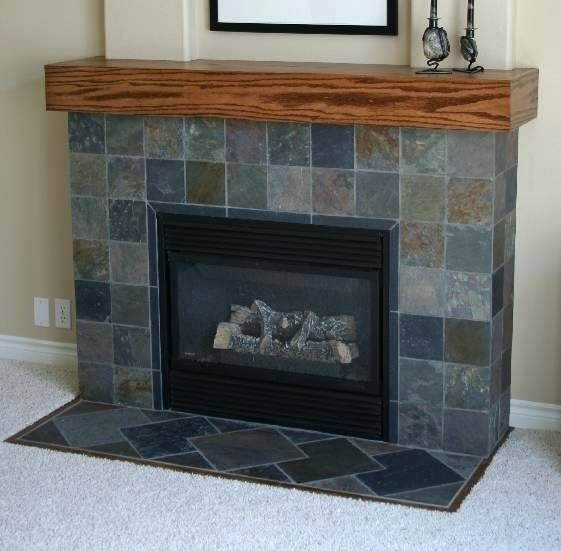 Slate Fireplace Surround Reface Fireplace With Tile Idea Slate