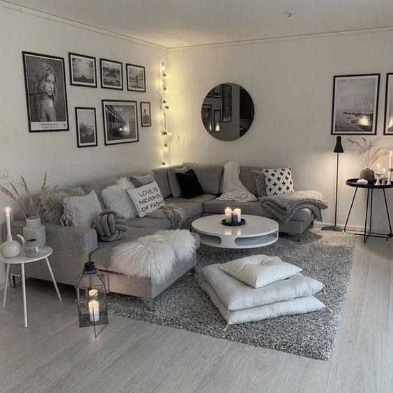60 Graue Kleine Wohnzimmerwohnungen Die Toll Aussehen Dekoration Diy Home Decor In 2020 Living Room Decor Apartment Small Apartment Decorating Living Room Small Apartment Living