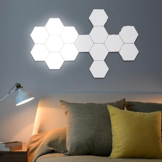 Hexagonal Magnetic Modern Wall Lamp In 2020 Modern Wall Lamp Wall Lamp Lamp