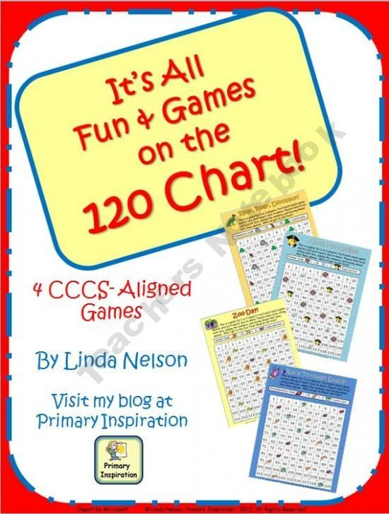 Fun and Games on the 120 Chart product from PrimaryInspiration on TeachersNotebook.com