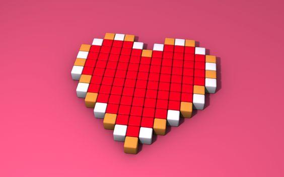 Bit Heart Heart Container by 8 Bit | 8-bit Heart Tattoo Couple ...