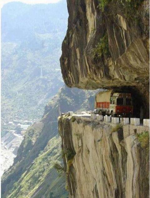 Karakorum Highway Pakistan. Karakorum Highway Pakistan. Not sure if we're game to drive this one! #roads #travel #drive #extreme