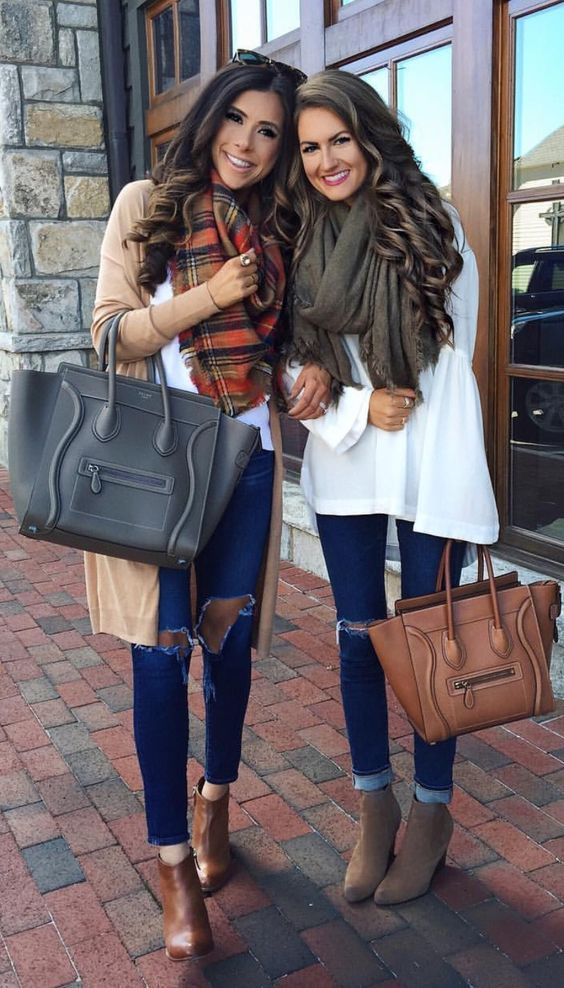 I love warm but cute outfits like this these!