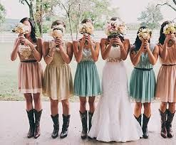 Multi-colored bridesmaid dresses  My Sisters Wedding  Pinterest ...