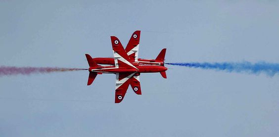 September 11 in  South Shields, the Red Arrows parade in the sky for the  half marathon Great North Run in Britain.