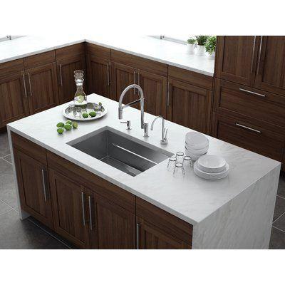Franke Peak 29 L X 18 W Undermount Kitchen Sink Kitchen Island With Sink New Kitchen Kitchen Island With Sink And Dishwasher