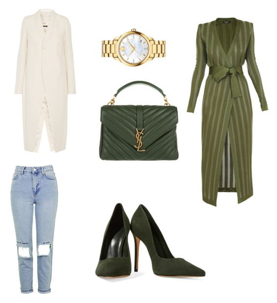 """Untitled #1109"" by marxendjie on Polyvore featuring Schutz, Yves Saint Laurent, Rick Owens, Balmain, Topshop and Movado"