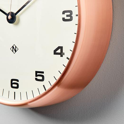 Newgate Chrysler Copper Wall Clock Wall Clock Clock Oversized Wall Clock