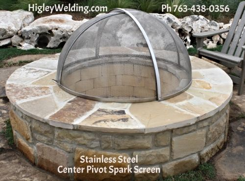 Custom Stainless Steel Fire Pit Screen