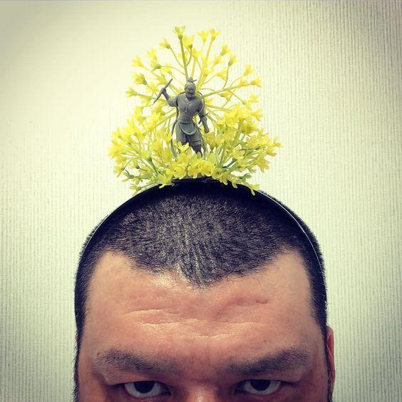 黄色い花の中に何かいるくっきー