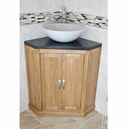 Belfry Bathroom Deck Solid Oak 550mm Free Standing Vanity Unit Wayfair Co Uk Small Bathroom Vanities Corner Bathroom Vanity Corner Sink Bathroom