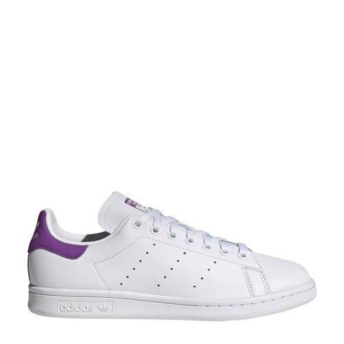 originals Stan Smith leren sneakers wit/paars | Adidas ...