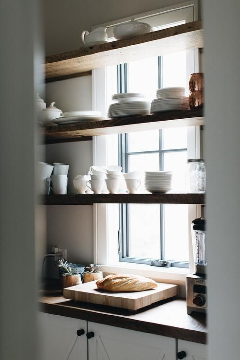 Kitchen Window Shelves Remodel