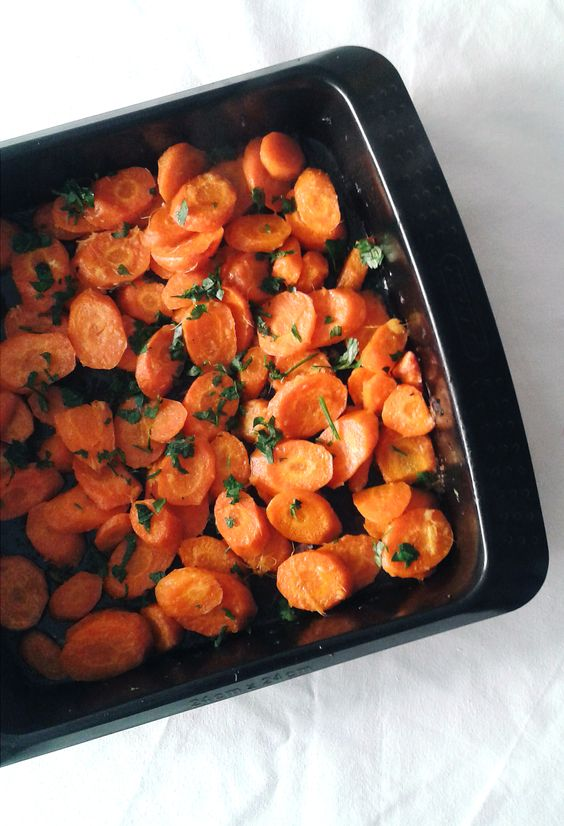 Cenouras assadas com laranja