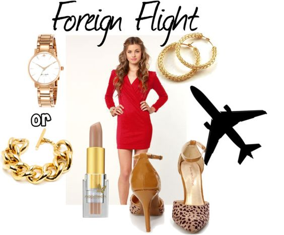 """Red Foreign Flight"" by nicolelr on Polyvore"