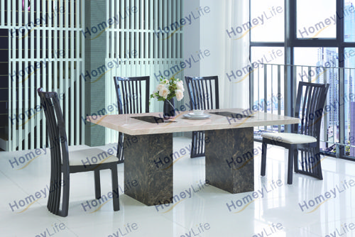 There S Always A Wish To Prettify Our Household Furnish It With The Right Furniture Marble Top Dining Table Dining Table Marble Stainless Steel Dining Table