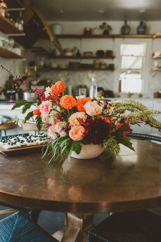 Fall Floral Arrangement Flora Pinterest Beautiful Floral Arrangements And Open Shelving