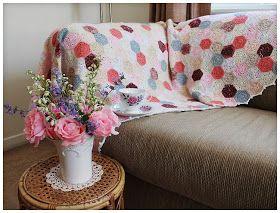 Camellia Rose: Summertime Patchwork Quilt Blanket - finished at last!