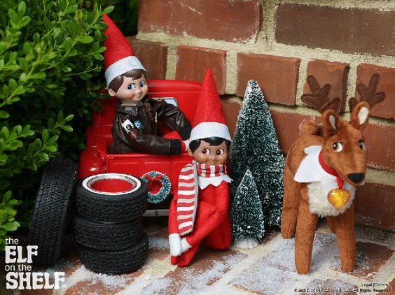 Elf On The Shelf Shelf Ideas And Reindeer On Pinterest