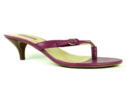 Nine West Women's CARDONE Ametista Purple Leather Kitten Heel ...
