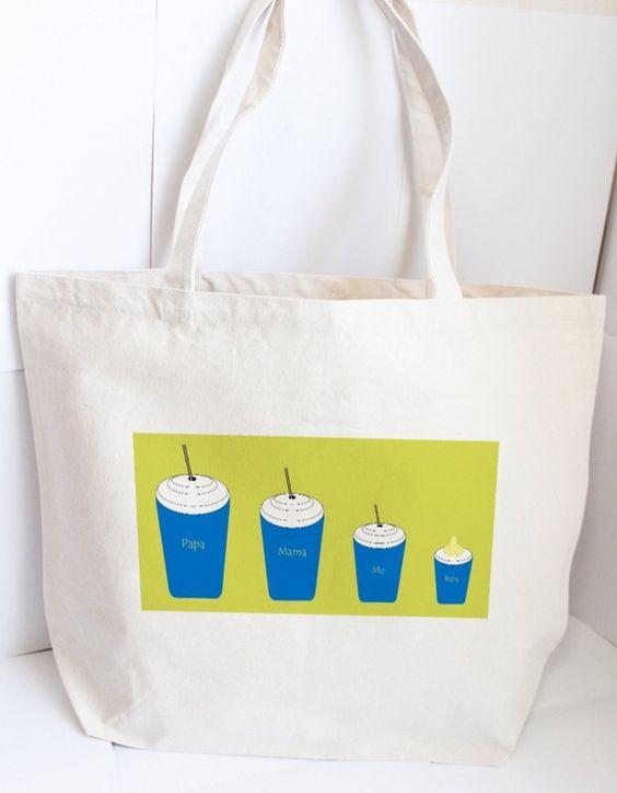 【L size トートバッグ】ウチのコーヒータイム by オルミル暖かいライム色を背景とした家族みんなのコーヒータイム。コーヒーを飲めない赤ちゃんのカップには...|ハンドメイド、手作り、手仕事品の通販・販売・購入ならCreema。