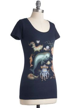 Creatures of the Whim-sea Tee, #ModCloth