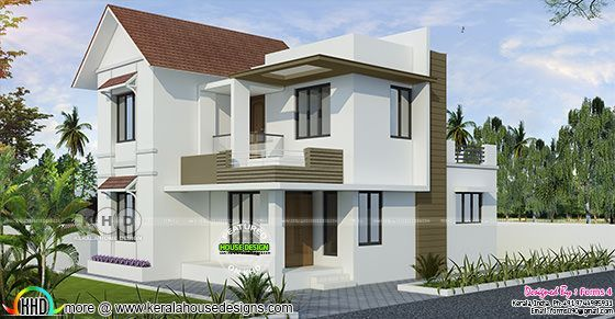 3 Cent Plot Below 20 Lakhs 3 Bedroom Home Design Kerala House Design Duplex House Design House