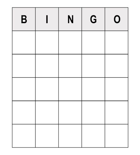 numerous sample questions to play human bingo game plays and bingo