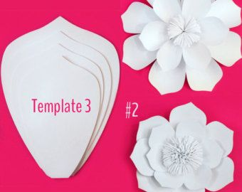 Paper flower template diy kit birthdays flower and paper for Big flower paper template