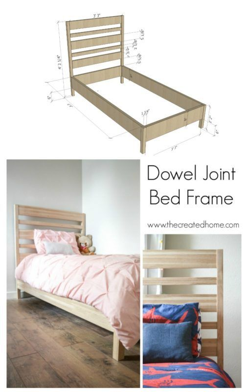 Dowel Joint Bed Frame The Created Home Diy Furniture Plans Furniture Plans Furniture