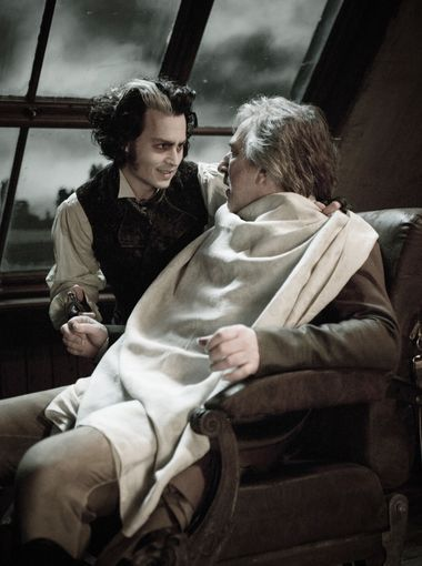 (L-R) Johnny Depp and Alan Rickman in a scene from