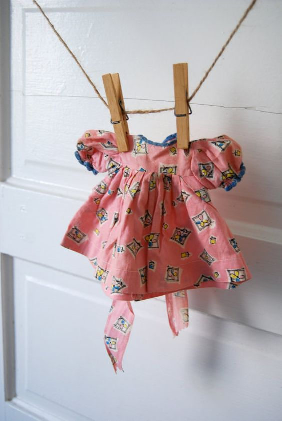 Vintage Baby Doll Clothing Dress: