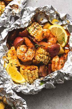 Shrimp Boil Foil Packs - Creme De La Crumb