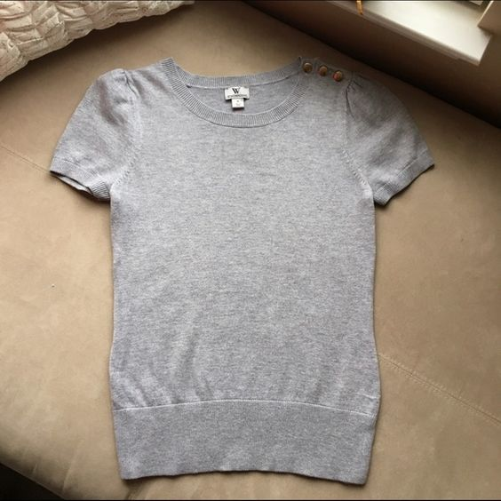 Worthington Spring Sweater Blouse - Grey In great condition Worthington Sweaters