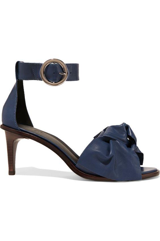 TIBI Desmond Embellished Leather Sandals. #tibi #shoes #sandals
