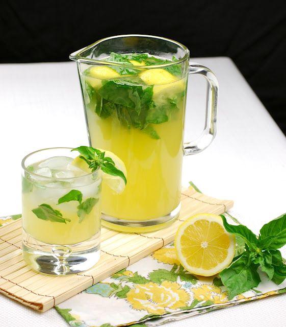spiced basil lemonade