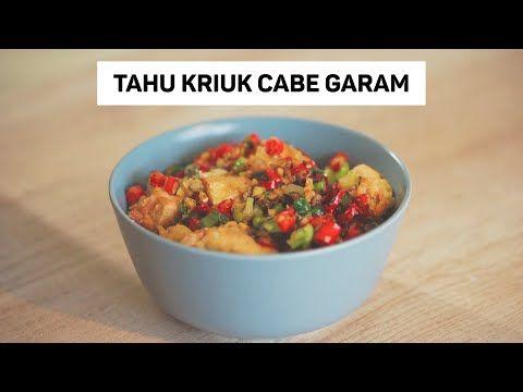 Tahu Crispy Cabai Garam Video Asmr Youtube Makanan Anjing Memasak Makanan