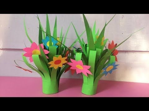 Pretty Paper Straw Tulip Craft Paper Flowers For Kids Paper