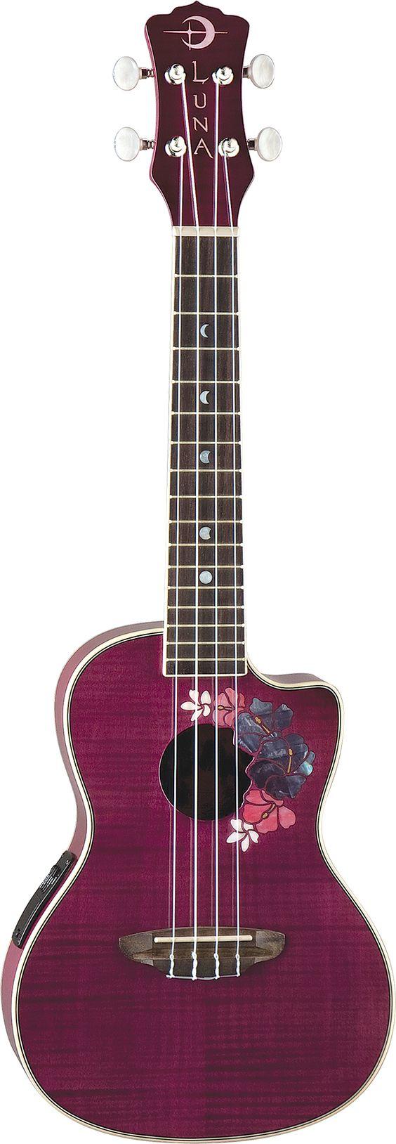 Luna Floral Uke For the Love of Luna Guitars... #lunapinandwin #lunatribe #lunaguitars