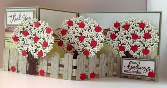 Thoughtful Branches z-fold Apple Trees #stampinup dianespaperdesigns.typepad.com