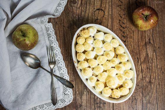 Apfel Reis Auflauf, apple rice casserolle, apple rice dish, healthy baking