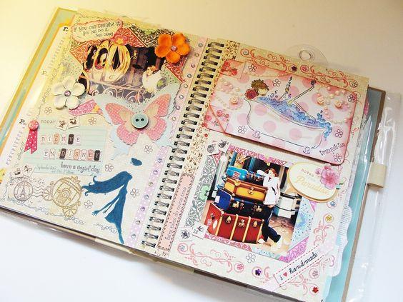 Como decorar un cuaderno por dentro , Imagui