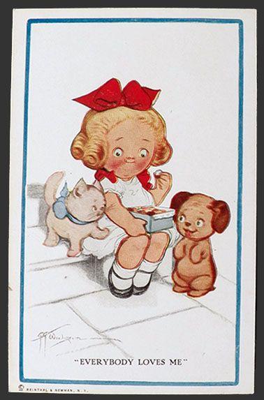 Grace Wiederseim Postcard ~ Everybody Loves Me