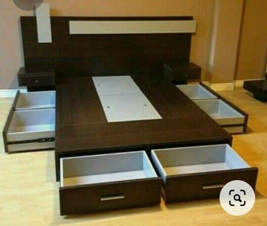 Pin By Piedad Ron On Decoración Bed Design Modern Bed Frame Design Bedroom Furniture Design